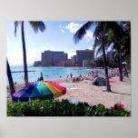 Impresión del poster de la playa de Waikiki