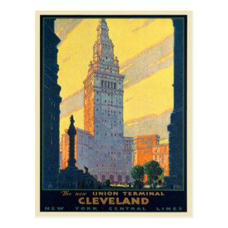 Impresión del poster de la postal para las líneas