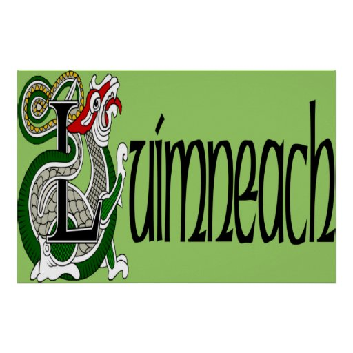 Impresión del poster de la quintilla (gaélico)