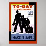 Impresión del poster de la seguridad del trabajo d