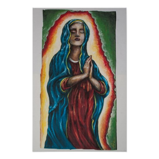 Impresión del poster de la señora - una pintura or