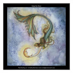 Impresión del poster de la sirena de la luna del m