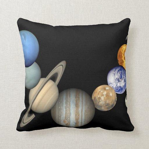 Impresión del poster de la Sistema Solar Cojin