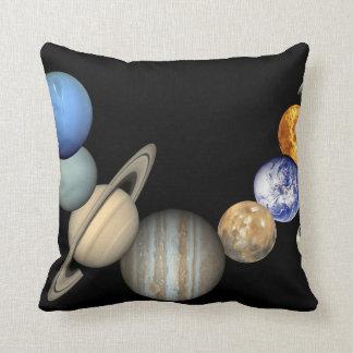 Impresión del poster de la Sistema Solar Cojín Decorativo