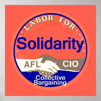 Impresión del POSTER de la solidaridad