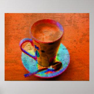 Impresión del poster de la taza de café del arte