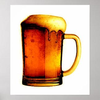 Impresión del poster de la taza de cerveza