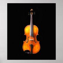 Impresión del poster de la viola/del violín