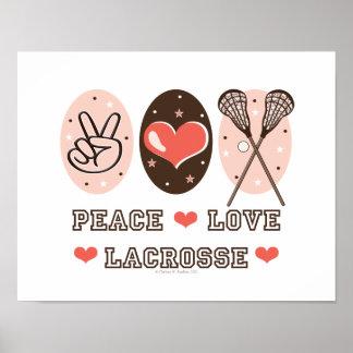 Impresión del poster de LaCrosse del amor de la pa