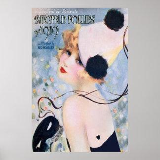 Impresión del poster de las locuras de Ziegfeld de
