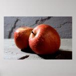 impresión del poster de las manzanas