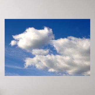 Impresión del poster de las nubes
