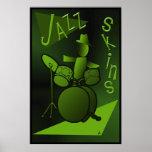 Impresión del poster de las pieles del jazz