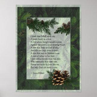 Impresión del poster de los árboles forestales del