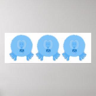 Impresión del poster de los bebés de Pom Pom de la