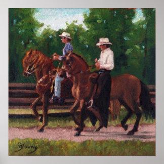 Impresión del poster de los caballos de Paso Fino