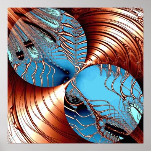 Impresión del poster de los círculos de la lona