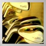 Impresión del poster de los conductores del golf