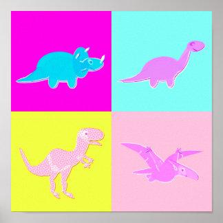 Impresión del poster de los dinosaurios del arte p