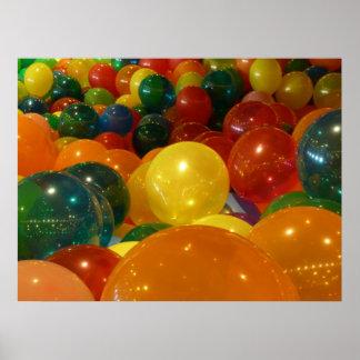 Impresión del poster de los globos