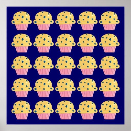 Impresión del poster de los molletes del arándano