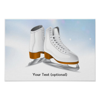 Impresión del poster de los patines de hielo