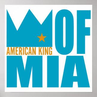 Impresión del poster de MIMS - rey americano de MI