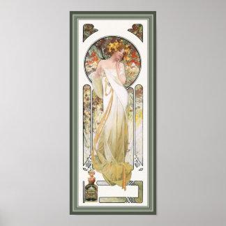 Impresión del poster de Mucha: Anuncio del perfume