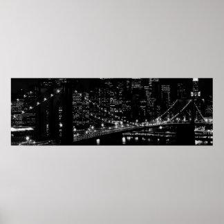 Impresión del poster de New York City del puente d