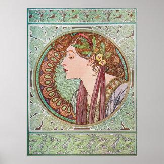 Impresión del poster de Nouveau del arte del laure