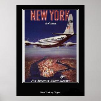 Impresión del poster de Nueva York del vintage