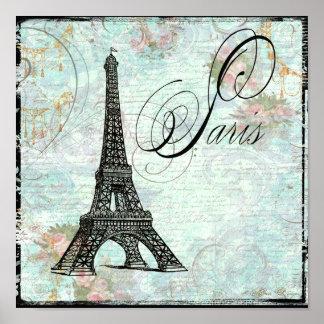 Impresión del poster de París de la torre Eiffel