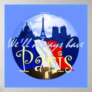 Impresión del POSTER de PARÍS Francia