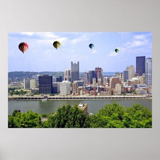 Impresión del poster de Pennsylvania de la ciudad