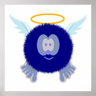 Impresión del poster de Pom Pom PAL del ángel azul