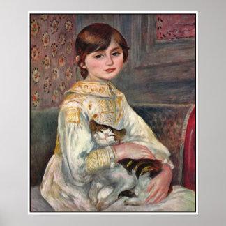 Impresión del poster de Renoir Mlle Julia Manet