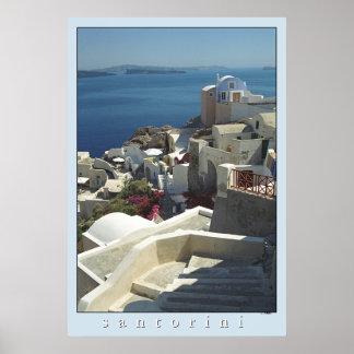 Impresión del poster de Santorini