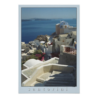 Impresión del poster de Santorini (fotografía de