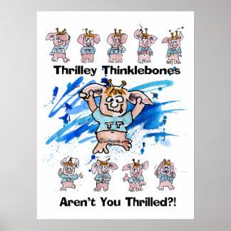 Impresión del poster de Thrilley Thinklebones