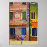 Impresión del poster de Venecia de la escena de la