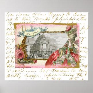 Impresión del poster de Versalles Marie Antonieta