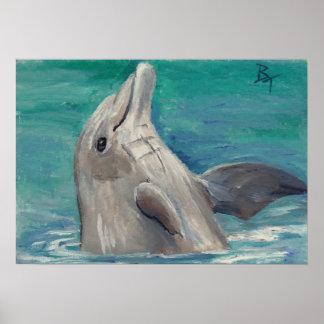Impresión del poster del aceo del delfín