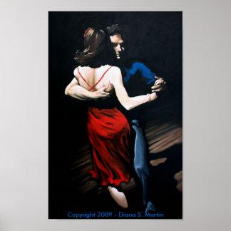 Impresión del poster del amor del tango