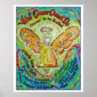 Impresión del poster del ángel del cáncer del arco