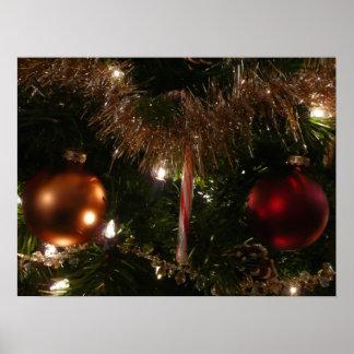 Impresión del poster del árbol de navidad