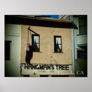 Impresión del poster del árbol del verdugo de Plac