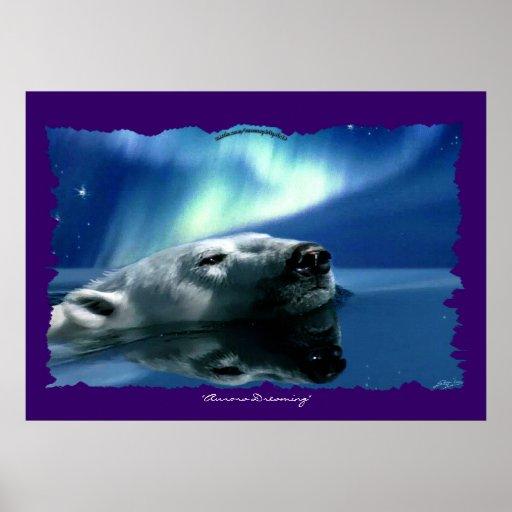 Impresión del poster del arte de la fauna del oso