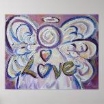 Impresión del poster del arte del ángel del amor