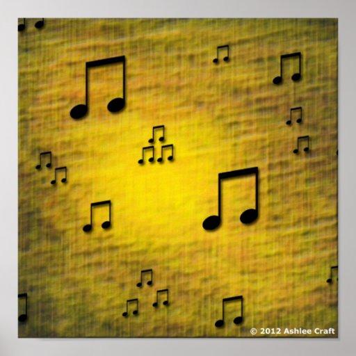 """Impresión del poster del arte del """"jazz amarillo"""""""