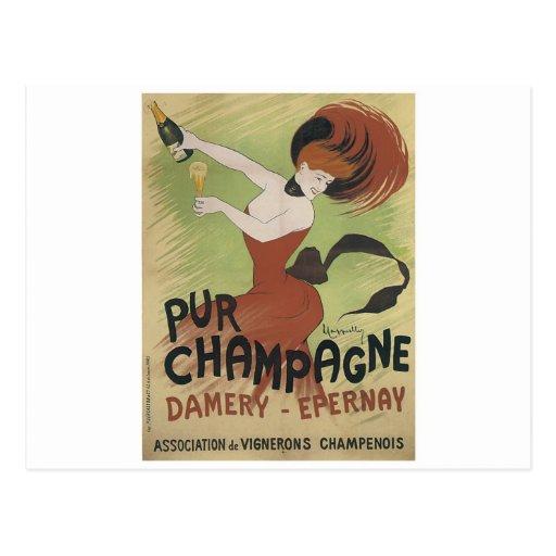 Impresión del poster del arte del vintage de PUR Tarjeta Postal